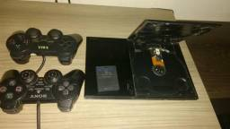 Vend ou troco Playstation 2 completo em celular