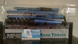Kit Chapinha nano titanium- Modelador de cachos- Pente Anti-estático - Promoção