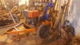 Conjunto de Irrigação com Motor Yanmar NB13 e Bomba KSB com carreta mangote