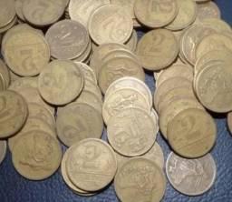 Lote com 40 moedas de 2 Cruzeiros!