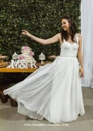 Vestido de noiva tule/renda
