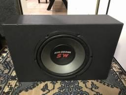 Caixa Selada Subwoofer Audiobank - 12 polegadas - 200w Rms