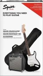 Fender Kit Squier Affinity + Amplificador Produto Novo Loja Fisica
