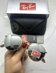Óculos de Sol Ray-Ban Round com Proteção UVA e UVB