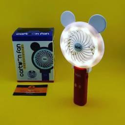 Mini Ventilador de Mão com Led