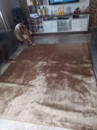 Vendo tapete novo aveludado cor dourado