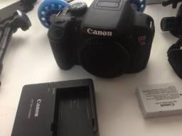 Câmera canon t5i com lente 24mm stm pankake