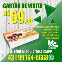 Cartão de visita R$ 59,99