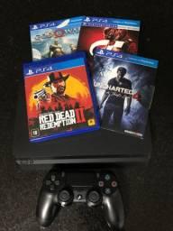 PlayStation 4 slim 1 tb + 4 jogos