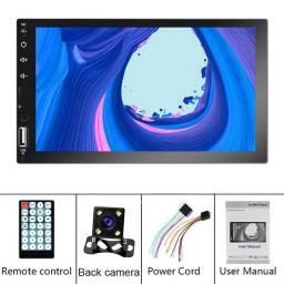 Dvd Player 2 Din Universal Mp5 Espelhamento Waze + Câmera Ré