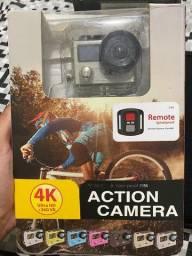 Câmera de Ação 4K Ultra HD (Estilo GoPro) + 10 Acessórios