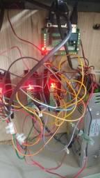 Kit router cnc 3motorde passo nema23 e 3 drivers tb placa mach3 fonte