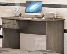 Mesa De Escritório Escrivaninha 1.20mx60 Gavetas Home Office