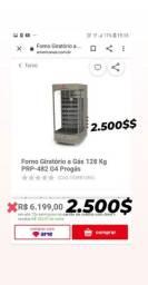 Forno Giratorio a Gas . 128 KG progas 2.000mil reais aceito cartão *