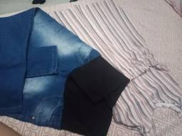 Vestido e calça de gestante