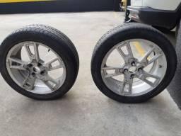 Roda aro 17 e pneus meia vida