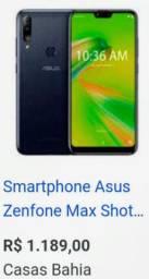 ASUS ZENFONE MAX SHOT 32 GB COM 3 DE RAM - TELA 6.24 - ANDROID 9 P