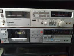Coleção de tape deck.