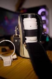 Lente Cânon EF 70-200mm f 2.8L USM com anel e case