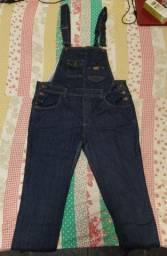 Macacão jeans tamanho 44