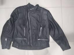 Jaqueta De Couro Legítimo - Para Motociclista/motoqueiro (g)