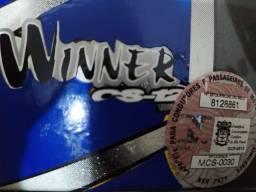 Capacete HJC winner cs12 - tamanho 58 com selo imetro - usado conservado