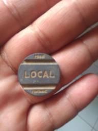Para colecionador ficha local 1988