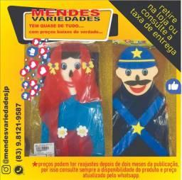 Kit de fantoches -chapeuzinho vermelho- com 4 peças