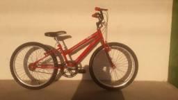 Bicicleta aro 24 vermelha nova