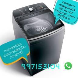 Compro lavadoras com defeito