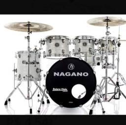 Vendendo tudo por 5mil!! Bateria Nagano, pratos Istambul, tudo por apenas 5mil!!