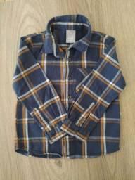 Camisa Infantil Xadrez - Hering