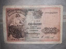 Cédula 1917 Portugal 1 Escudo