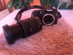 Câmera fotográfica e filmadora cânon