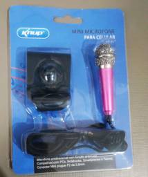 Mini microfone la pela