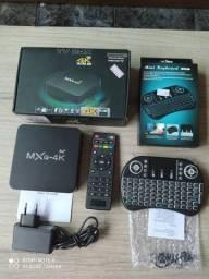Tv Box Mxq 4K 5 G 3/16 GB Ram Wifi Dual Band + Mini Teclado Led
