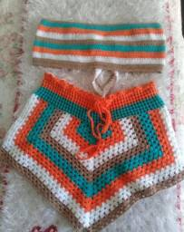 Conjunto em crochê