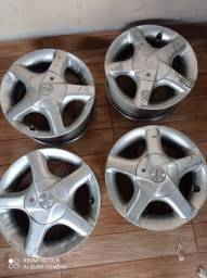 Jogo de Rodas aro 13 Mangels 4 furos VW Fiat Ford GM