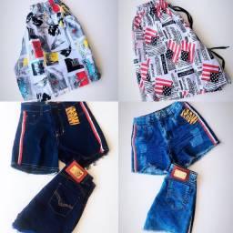 Vendo lote de short jeans, calção de Banho e lingieri