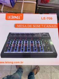 Mesa de Som Lelong 7 canais