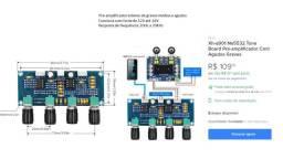 Vendo.: Placa Amplificadora e Pré Amplificadora, Som 2.1 . Descrição nas Fotos