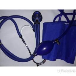 Kit de enfermagem com Estetoscópio e esfigmomanômetro