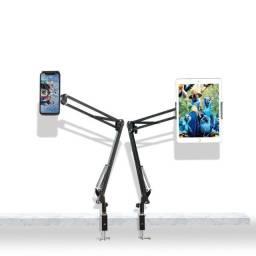 Suporte Com Braço Ajustável P/ Tablets E Smartphones Da Rock