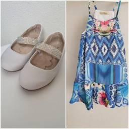 Combo vestido infantil + sapatilha Pampili