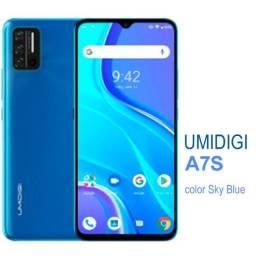 Umidigi a7s/ Smartphone inteligente/ 4150mah/ três câmeras/ versão global/ cor Sky Blue