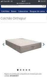 COLCHÃO CASAL 32x198x158  QUEEN ORTOPUR + BOX *NOVA NA EMBALAGEM*