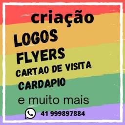 criação de logotipos, flyer, cartão de visita, banner, pôster e muito mais