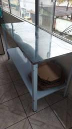 Mesa com tampo de inox 160x90