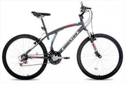 Bicicleta Aro 26 Houston Atlantis com 21 Marchas ? Cinza fosco