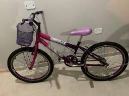 Bicicleta aro 20 track, rosa e lilás.  <br><br>